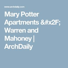 Mary Potter Apartments / Warren and Mahoney | ArchDaily