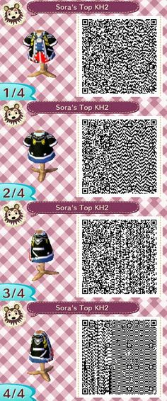 Sora's Top From Kingdom Hearts 2 on Animal Crossing: New Leaf.