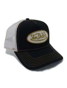 Von Dutch Logo trucker cap - black yellow Von Dutch da6f0b42c225