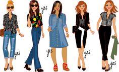 illustrations mode pour l'émission TV de Cristna Cordula