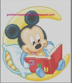 With Tenor, maker of GIF Keyboard, add popular Mickey And Minnie animated GIFs to your conversations. Cross Stitch Baby, Cross Stitch Charts, Disney Stitch, Cross Stitching, Cross Stitch Embroidery, Disney Quilt, Modele Pixel Art, Disney Cross Stitch Patterns, Crochet Disney