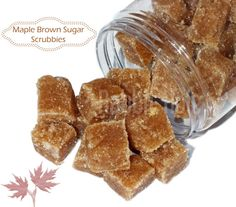 NEW Sugar Scrub Cubes   Maple Brown Sugar by RabbitHoleBeauty, $1.99 --- Our amazing Maple Brown Sugar Scrubbies will exfoliate your dry and tired skin, leaving it as soft as a baby's behind. These sugar scrub cubes are deliciously scented with a vanilla maple scent and loaded with sweet almond and olive oil to ensure your skin is nourished and moisturized.