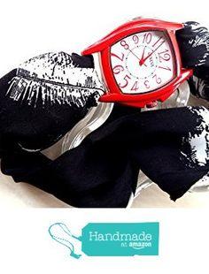 Orologio a bracciale eco donna quadrante grande rosso retangolare Bracciale in…