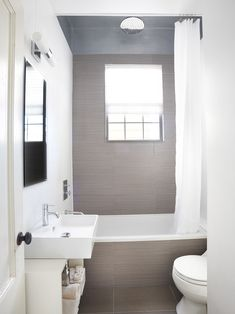 Bathroom Small Narrow Bathroom Black White Gray Design, Pictures, Remodel, Decor and Ideas - page 2