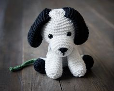 Free Crochet Puppy Pattern, #crochet, free pattern, amigurumi, stuffed toy, dog, #haken, gratis patroon (Engels), hond, puppy, knuffel, speelgoed, #haakpatroon