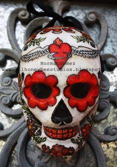 First Dia De Los Muertos skull of the season!!
