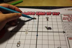 Students practice graphing linear equations with this fun graphing activity. Check out all 11 graphing systems of equations activity ideas, including FREE download. Graphing Activities, Math Games, Systems Of Equations, Math Magic, Math Practices, Math Classroom, Maths, Classroom Ideas, Common Core Math