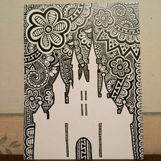Castle Silhouette Print by CurbedChaos on Etsy