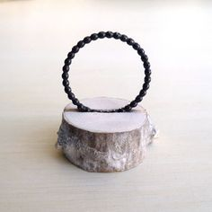 Beaded Stacked Ring - Oxidized - Sterling Silver - Custom - Stacked Rings - Stackable - Thin - Delicate - Minimalist - Stackable Ring