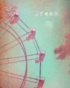 Carnival Photography Ferris Wheel Vintage by JenniferMangesDesign, $30.00
