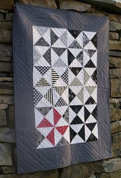 Black and White string quilt - back | Flickr - Photo Sharing!