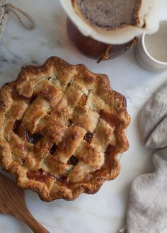 Classic Peach Pie recipe from PBS Food