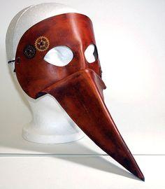 Plague Doctor by WastelandArtisan Plague Doctor Mask, Steampunk Fashion, Larp, Masquerade, Ceramics, Steel, Superhero, Unique Jewelry, Doctors