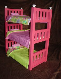 18 inch doll bunk bed plans | They have also built handmade bunk beds for the Southern Alberta Bible ...