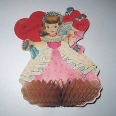 Vintage Large Novelty Valentine Card with by grandmothersattic, $5.95
