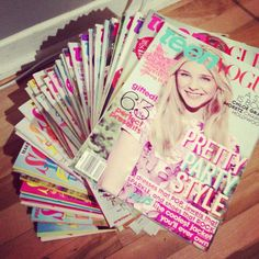 this is what my magazine collection looks like!