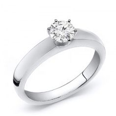 Round Cut Diamond Solitaire Ring 0.40 Carat