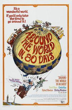 Jules Verne around the World in 80 Days Book   LA VUELTA AL MUNDO EN OCHENTA DÍAS (1956), de Michael Anderson