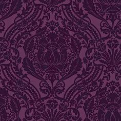 allen + roth  Purple Grandiose Damask Wallpaper