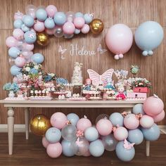 Best balloon Party styling, Party decoration, balloon garland, balloon backdrop,… - Home Page Baby Shower Menu, Baby Girl Shower Themes, Girl Baby Shower Decorations, Baby Shower Gender Reveal, Baby Shower Games, Birthday Decorations, Butterfly Birthday Party, Butterfly Baby Shower, Baby Girl Birthday