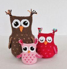 Amigurumi Baykuş Yapımı 47 Owl Crochet Patterns, Owl Patterns, Crochet Toys, Knit Crochet, Pet Toys, Decoration, Origami, Free Pattern, Projects To Try