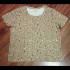 T-shirt Floral t-shirt  Never worn  Sz XXL Tops Tees - Short Sleeve