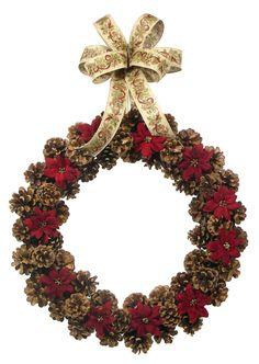 Rustic Christmas Pine Cone Wreath