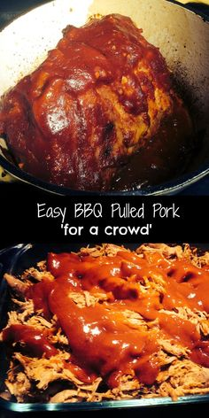 Easy BBQ  Pulled Pork 'for a crowd' | Aunt Bee's Recipes