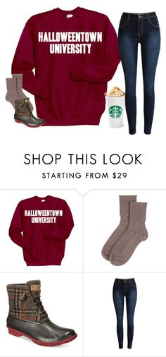"""Happy Halloween! RTD?!!"" by simplylovelyruru ❤ liked on Polyvore featuring Disney, Johnstons of Elgin and Sperry"