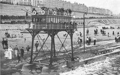 The Daddy Long Legs of Brighton | The Public Domain Review  The Brighton and Rottingdean Seashore Electric Railway was a unique coastline railway in Brighton, England that ran through the shallow waters of the English Channel between 1896 and 1901