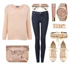"""""""street style"""" by sisaez ❤ liked on Polyvore featuring Miss Selfridge, Forever New, The Cambridge Satchel Company, KBL Eyewear, H&M, Makebelieve, ASOS and Jennifer Meyer Jewelry"""