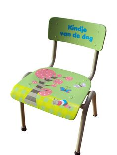 Handpainted children chair for kindergarden