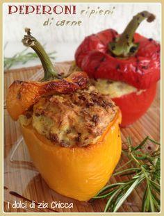 Peperoni ripieni di carne e patate