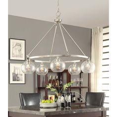 Marisol Brushed Nickel 5-light Chandelier - Overstock Shopping - Great Deals on Chandeliers & Pendants