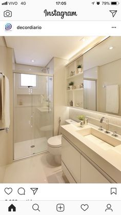 Apartment Bathroom Layout 50 Ideas For 2019 Zen Bathroom, White Vanity Bathroom, Laundry In Bathroom, Modern Bathroom, Laundry Rooms, Bathroom Ideas, Bathroom Cabinets, Modern Shower, Bathroom Inspo