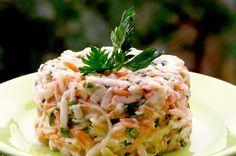 A legfinomabb sárgarépa saláta – Önmagában könnyű vacsora! Vegetarian Recipes, Cooking Recipes, Healthy Recipes, Healthy Food Options, Fried Rice, Cabbage, Salads, Healthy Living, Food And Drink