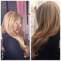 Blonde haircolor at Posh