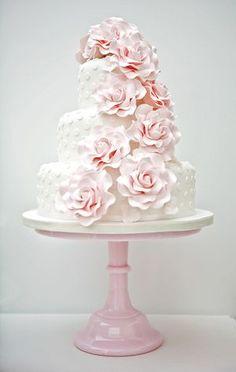 pretty pastel pink cake