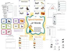 Free printable CVC packet with decodable book, activities, writing, and assessments.(not Montessori, but could be adapted?)