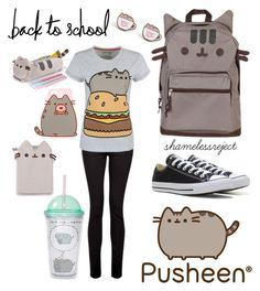 """""""pusheen"""" by shamelessreject on Polyvore featuring Pusheen, IDA, Converse, contestentry and PVxPusheen"""