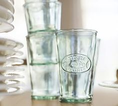 Drinking Glasses, Everyday Glassware & Everyday Barware | Pottery Barn $33 for 6
