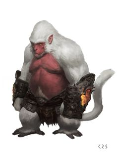 The Orang-Pendak of the deep mountains often have fur as white as snow. Some say these Pendak are blessed by Korada, others whisper of darker connections...