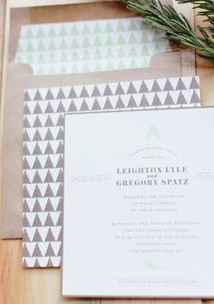 Clean type, modern, muted natural colors.  Need a pop of silver foil perhaps.
