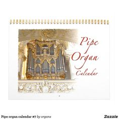 Shop Pipe organ calendar created by organs. Yearly Calendar, Calendar 2020, Calendar Design, Tool Design, Old And New, Wall Calendars