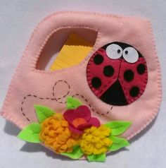 Felt Ladybug Children's Purse with by CurlyTailCrafts on Etsy