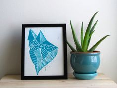 abtract-geo-woodblock-print