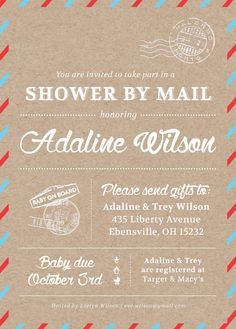 Adria virtual long distance baby shower invitation suite printables shower by mail invitation service baby shower adoption shower invitation filmwisefo