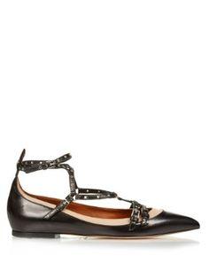 Love Latch point-toe leather flats | Valentino | MATCHESFASHION.COM US