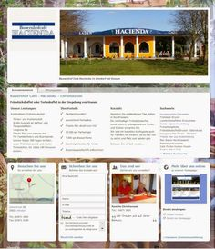 Web Visitenkarten Fördeagentur: Bauernhofcafé - Hacienda - Christiansen