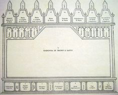 Duccio di Buoninsegna - Schema Maestà (fronte) - Museo dell'Opera del Duomo, Siena